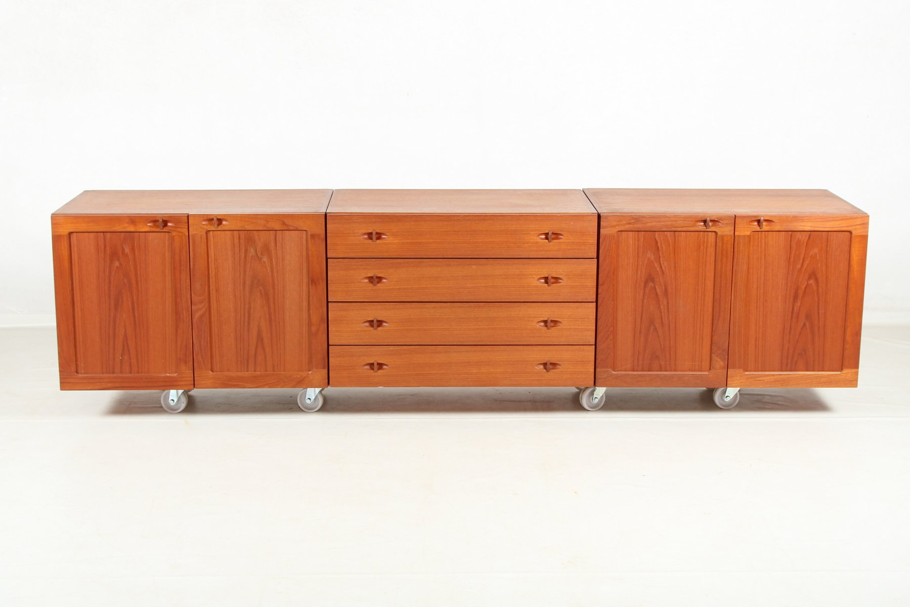 Vintage Sideboard Danish Vintage Danish Modular Sideboard In Teak Veneer For Sale