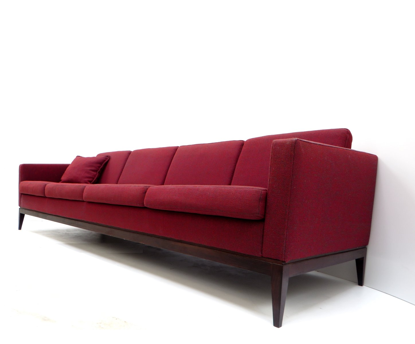 Sofa Dreams France Large Vintage Burgundy Four Seater Sofa For Sale At Pamono
