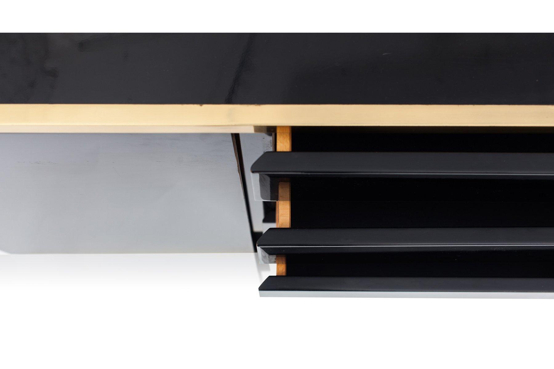 Credenza Moderna Laccata Nera : Credenza nera cinese in legno laccato nero