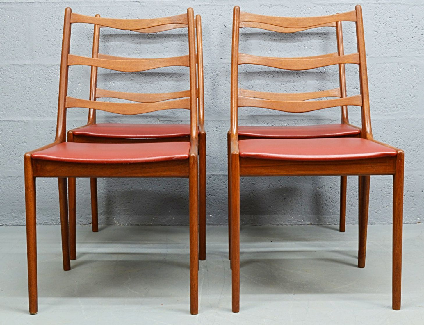 Danish Furniture St Louis Mid Century Teak Danish Dining Chairs By Kai Kristiansen