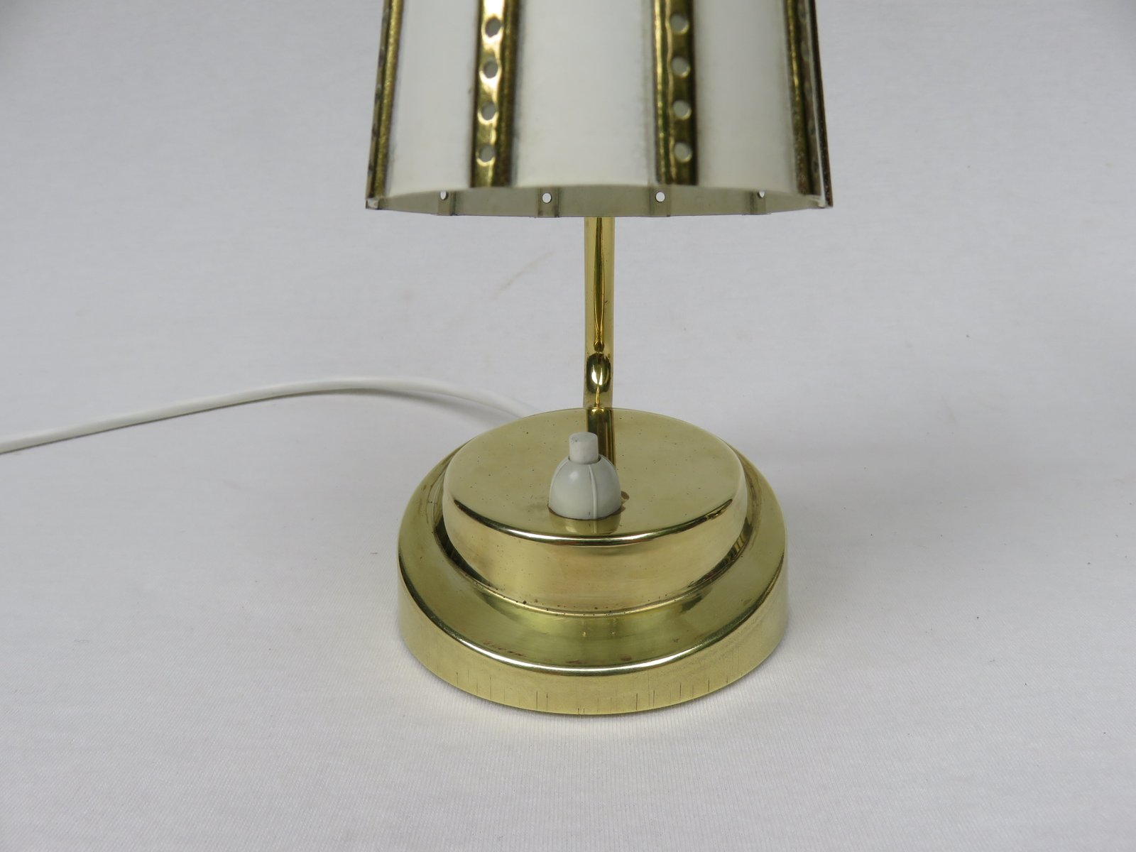 Brass Touch Lamps Bedside Italian Brass Bedside Lamps 1950s Set Of 2 For Sale At