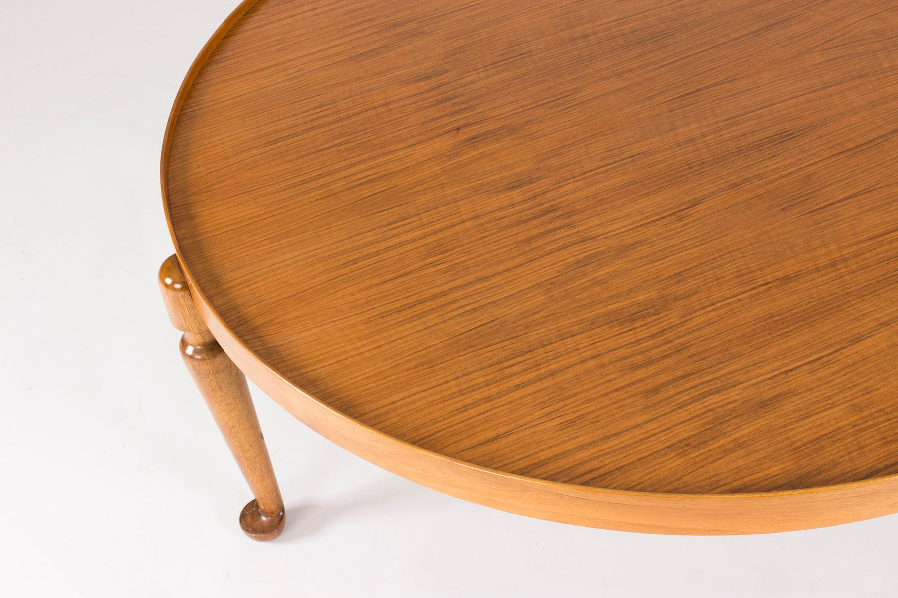 Round Mid Century Coffee Table Mid Century Swedish Round Walnut Coffee Table By Josef