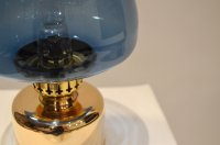 Vintage Blue Kerosene or Oil Lamp from Hans-Agne Jakobsson ...