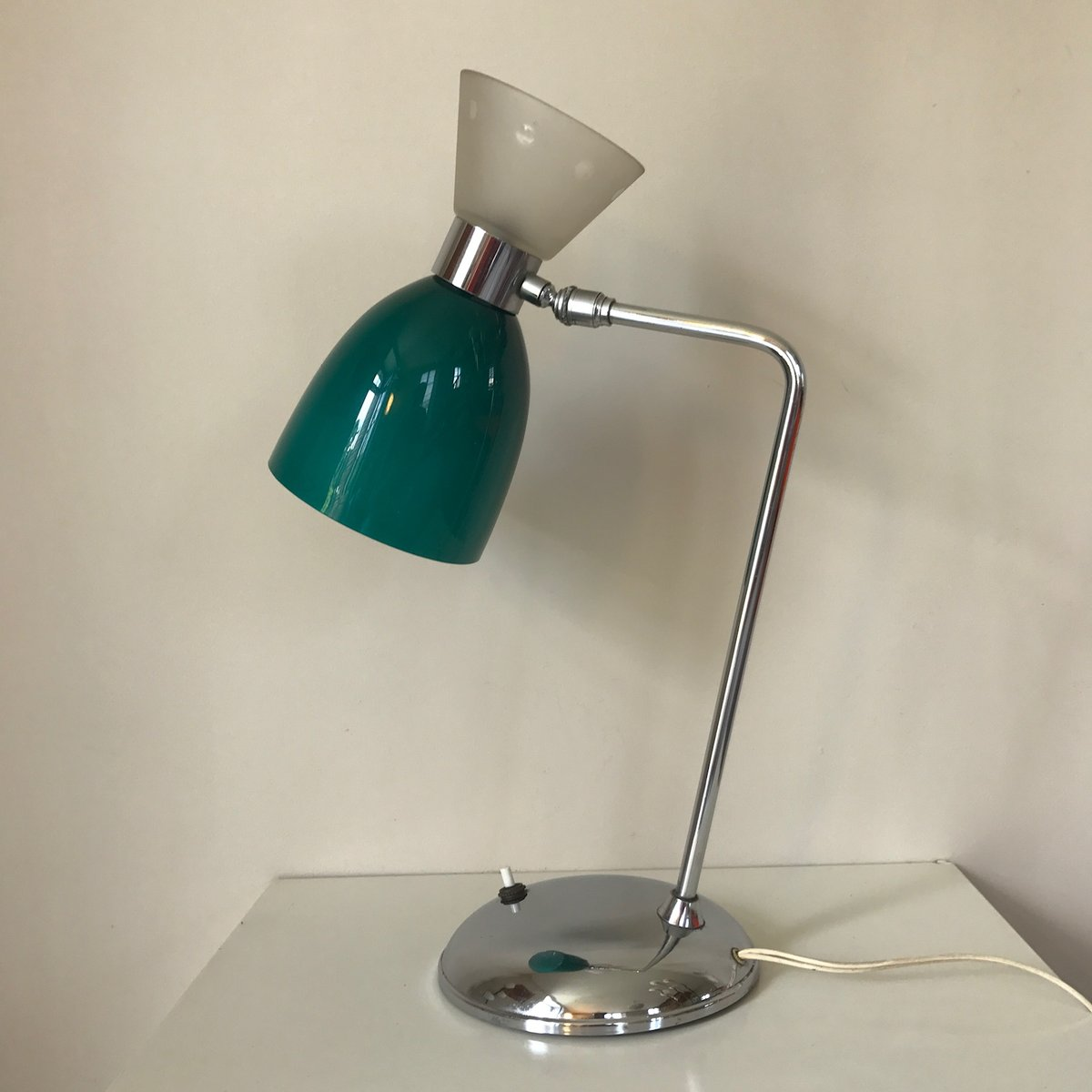 Chrom Lampe Chrom And Glas Diabolo Lampe 1960er Bei Pamono Kaufen