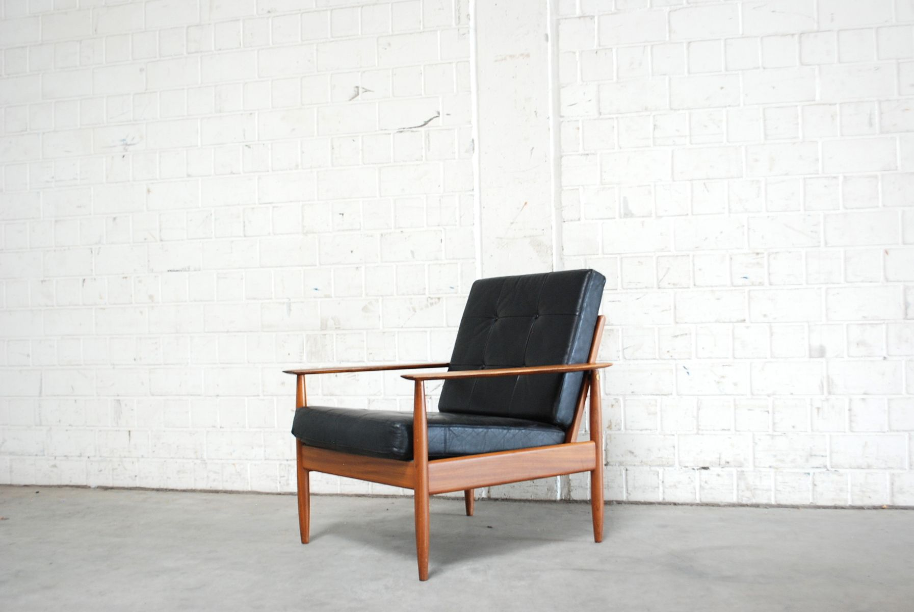 Danish Modern Leather Chair Danish Modern Leather Easy Chair 1960s For Sale At Pamono