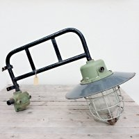 Vintage German Industrial Wall Lamp, 1940s for sale at Pamono