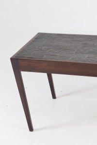 Dutch Mid-Century Modern Wenge Coffee Table with Slate Top ...