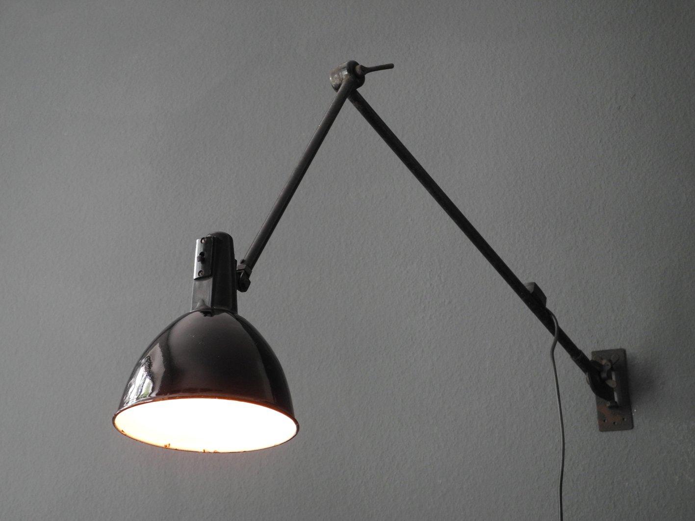 Grande applique noire en céramique style rétro ferroluce