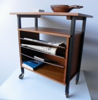 Side Table with Magazine Rack, 1960s for sale at Pamono