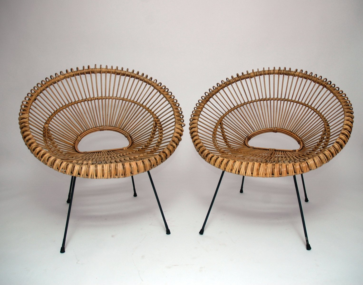 Rattan Chairs French Rattan Chairs 1960s Set Of 2