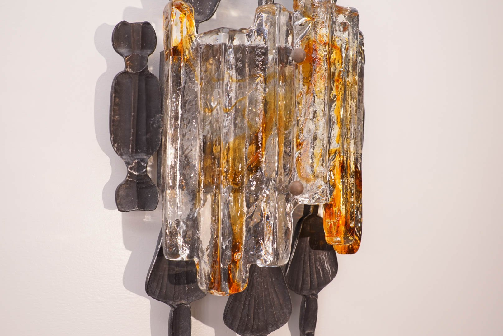Vintage Brutalist Wall Lamp for sale at Pamono
