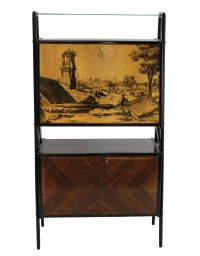 Vintage Mirrored Bar Cabinet for sale at Pamono