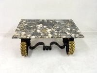 Mid-Century French Metal and Marble Coffee Table for sale ...