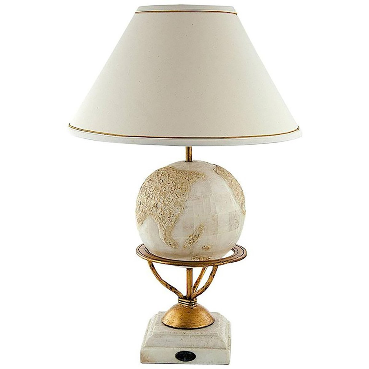 Large Lamps For Sale Large Round Nacre Faceted Table Lamp For Fournier