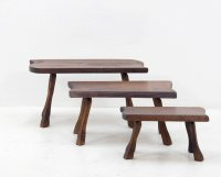 Vintage Tree Trunk Slab Nesting Tables for sale at Pamono