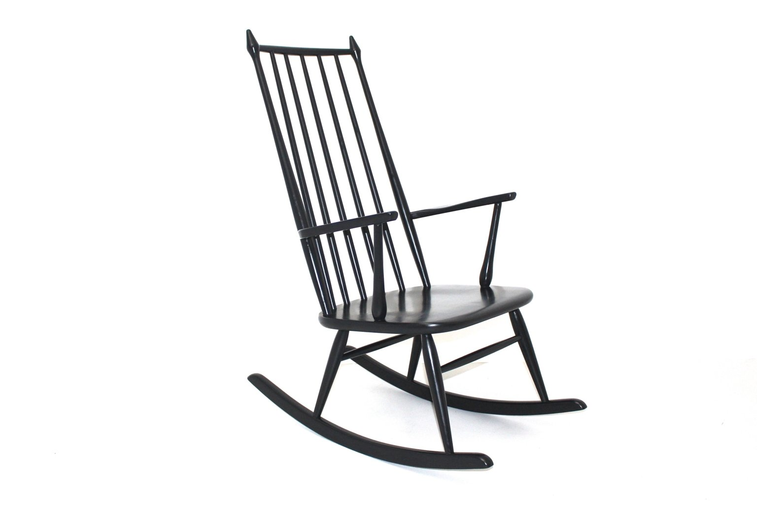 Swedish Rocking Chair Scandinavian Black Rocking Chair 1960s For Sale At Pamono