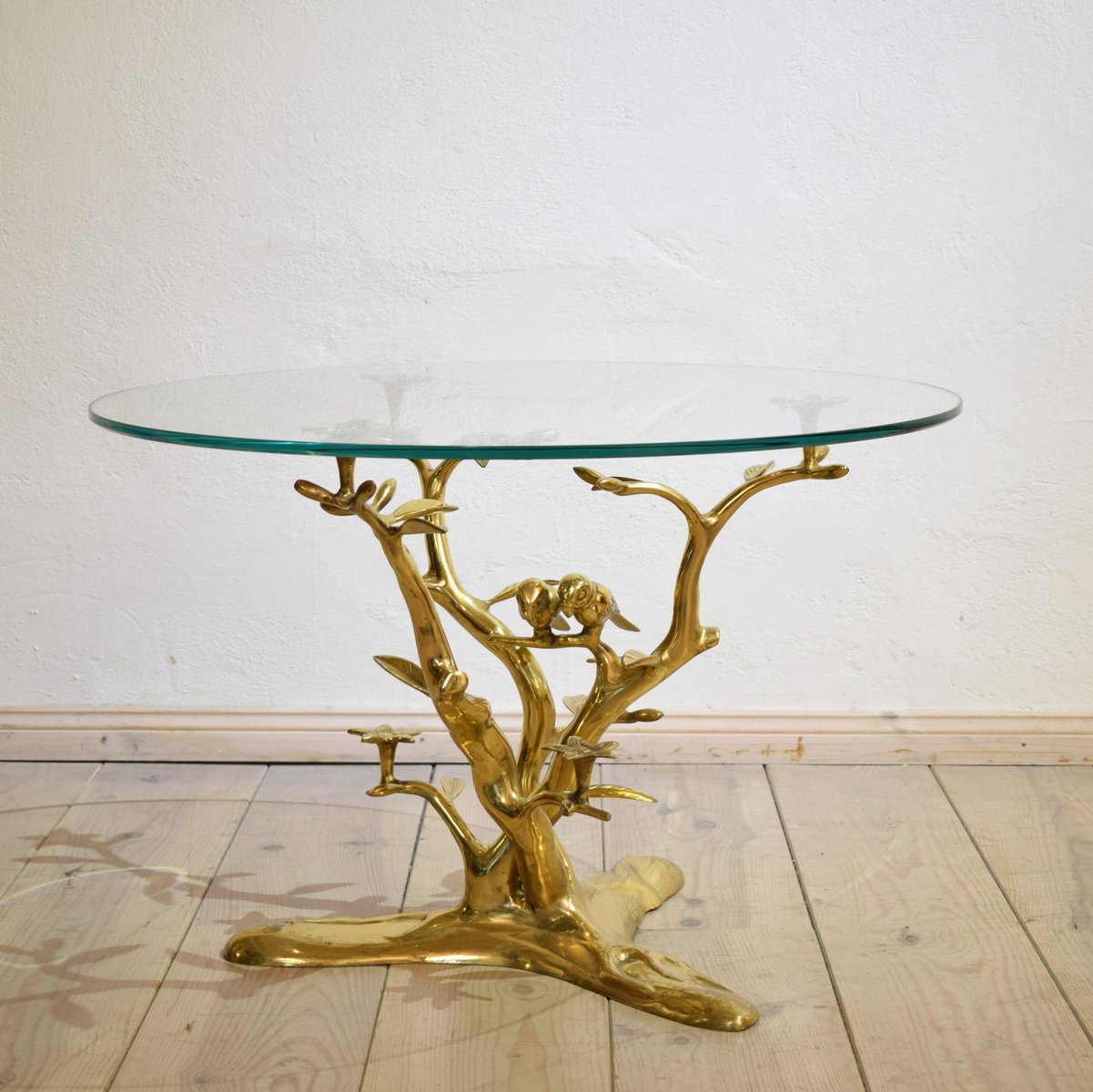 Couchtisch Bird Vintage Brass Coffee Table With Birds For Sale At Pamono