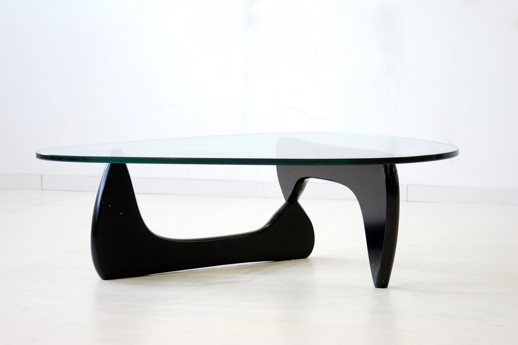 Mesa Centro Noguchi Glass Coffee Table By Isamu Noguchi For Herman Miller