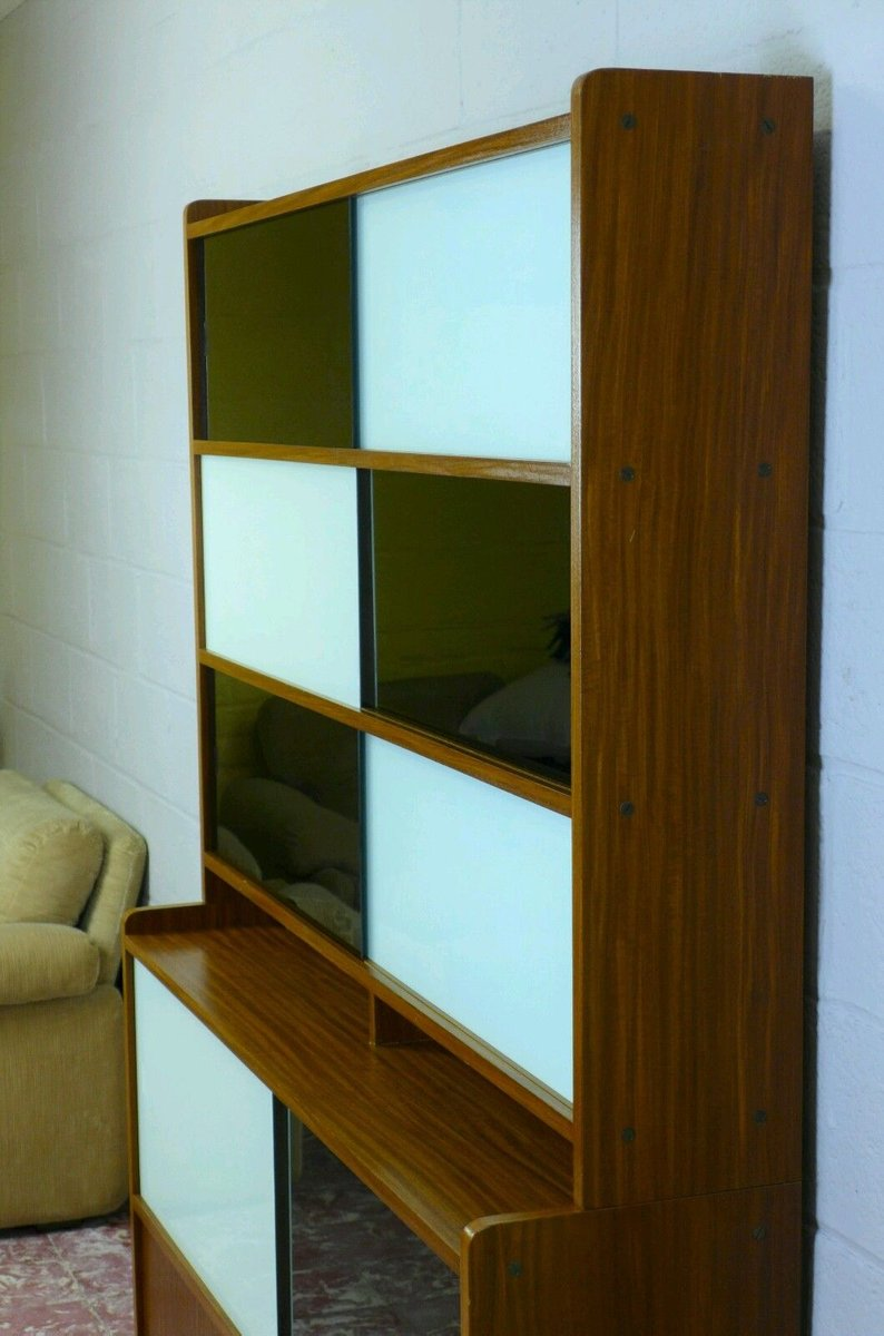 Pastoe Sale Wall Unit With Sliding Doors, 1960s For Sale At Pamono