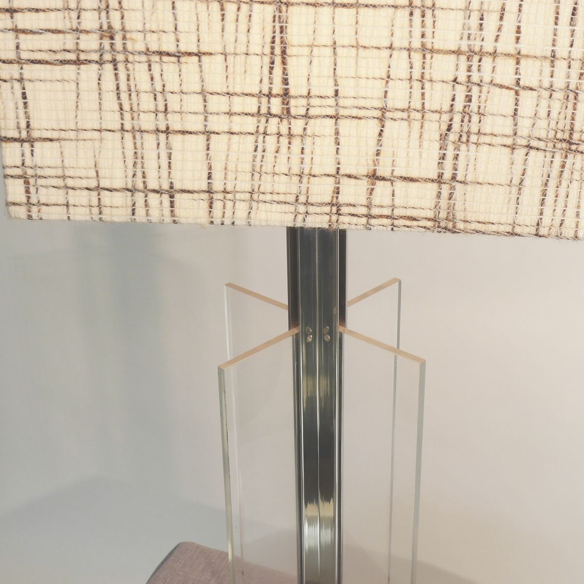 Table Plexiglas Transparent Tall Transparent Plexiglas Table Lamp 1970s For Sale At