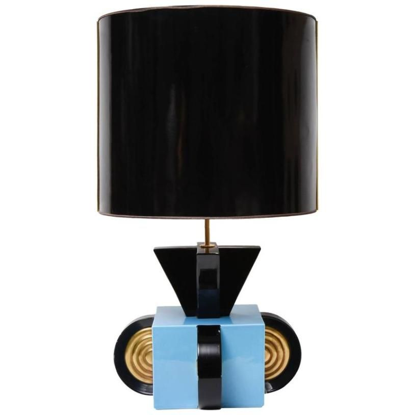 Italian Ceramic Table Lamp, 1970s for sale at Pamono