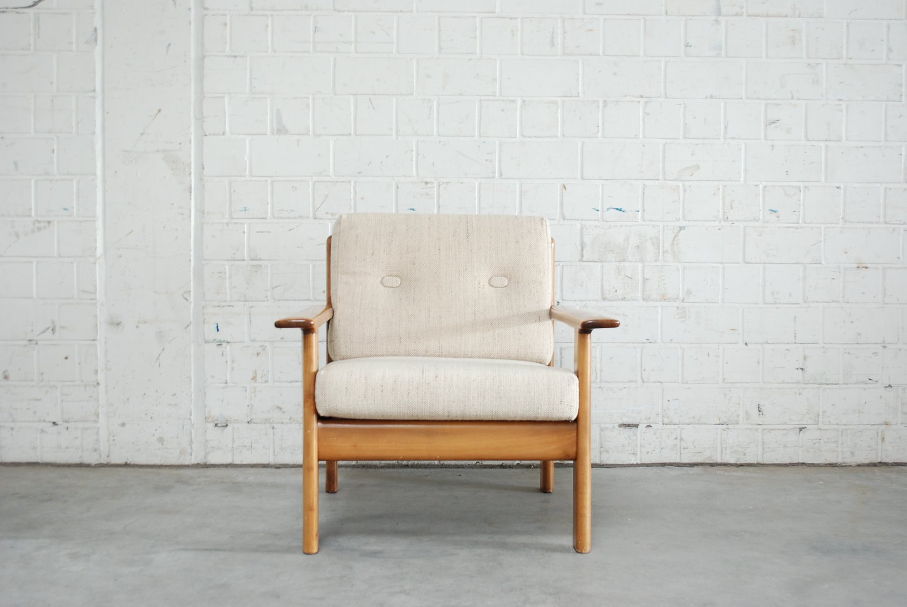 Vintage Cherrywood Chair From Knoll For Sale At Pamono