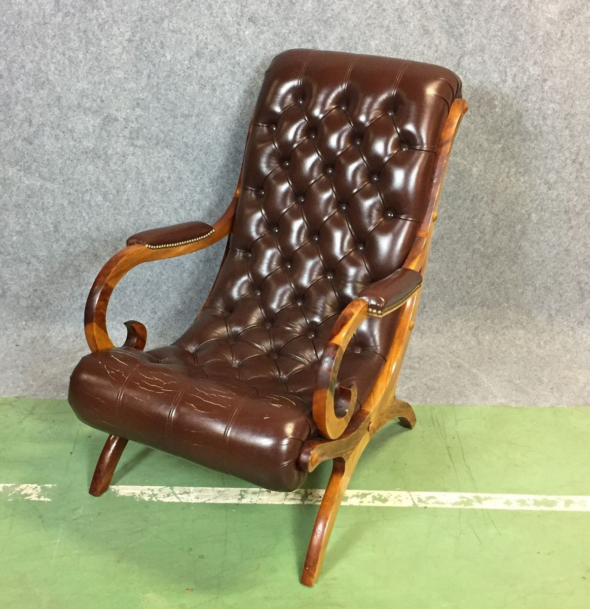 Chesterfieldsessel Mid Century Chesterfield Lounge Chair For Sale At Pamono