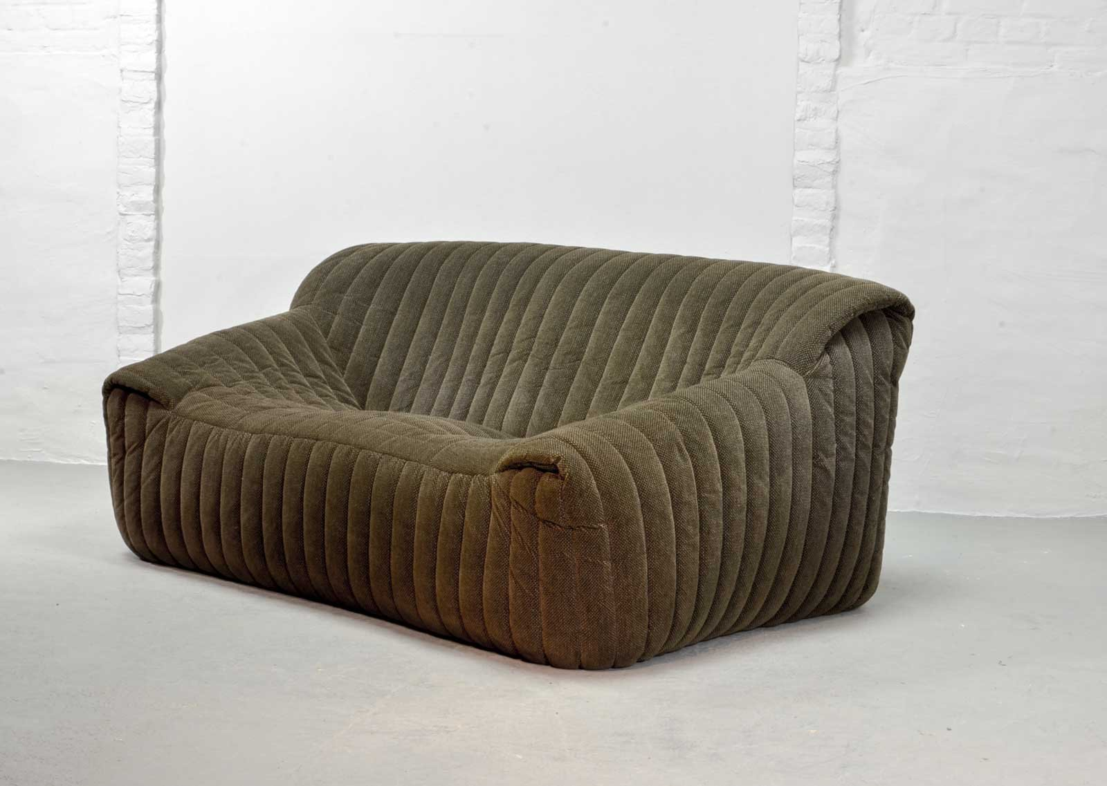 Console Ligne Roset French Two Seater Sofa By Annie Hieronymus For Ligne Roset 1970s