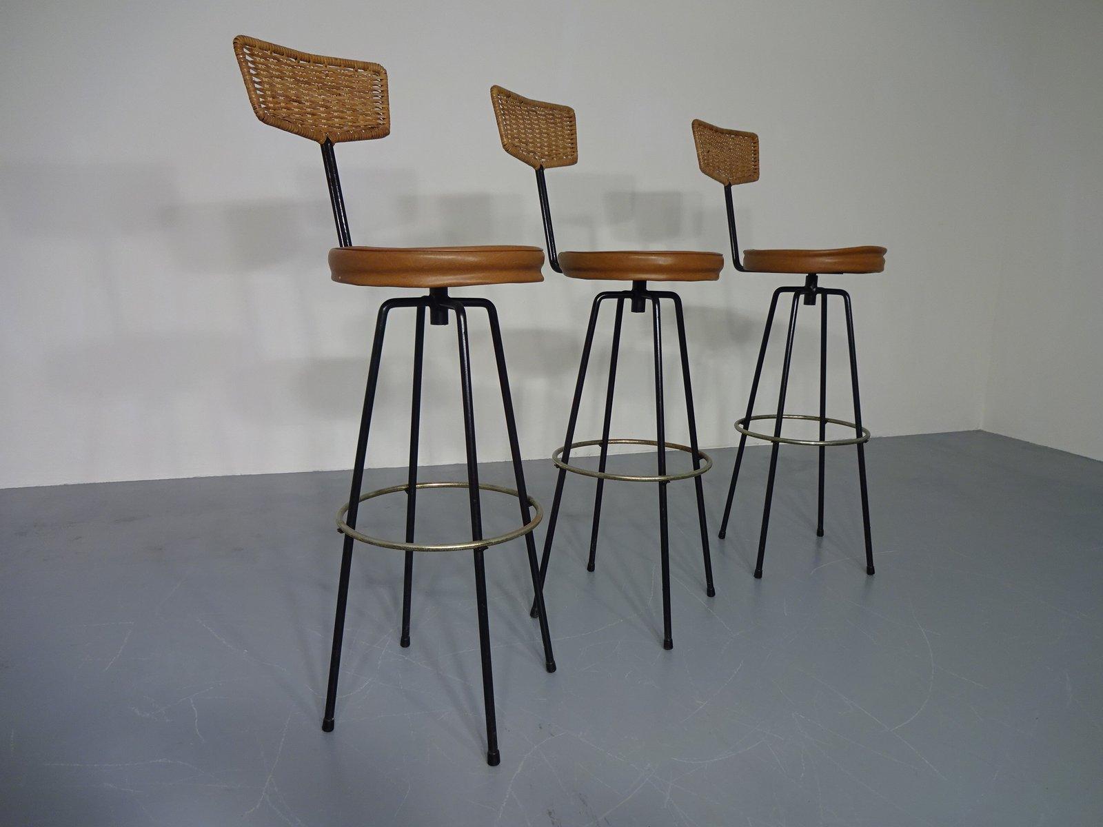 tabourets de bar rotatifs 1960s set de 3 en vente sur pamono