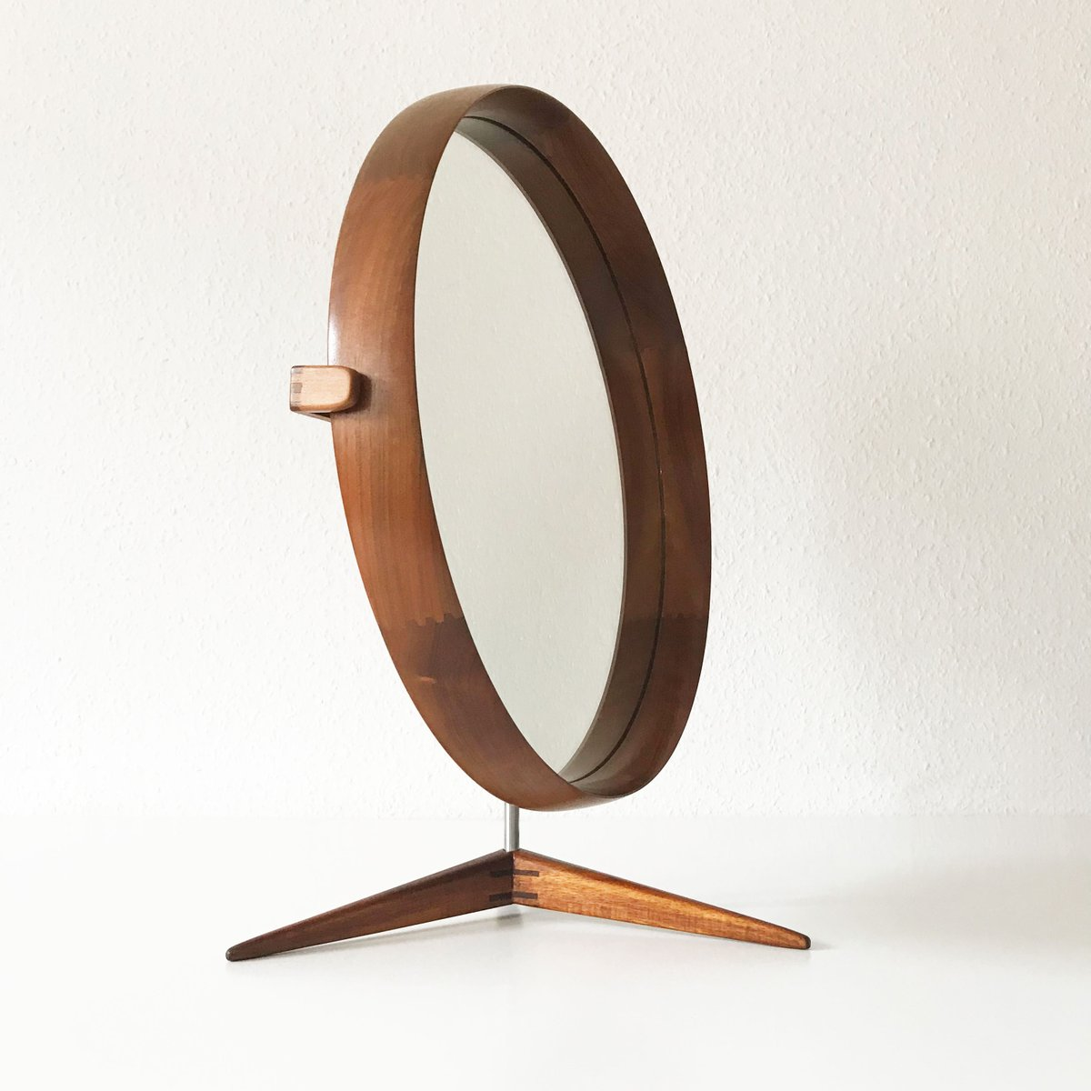 Mid Century Swedish Large Teak Table Mirror By Östen Uno - Luxus Gartenmöbel Teak