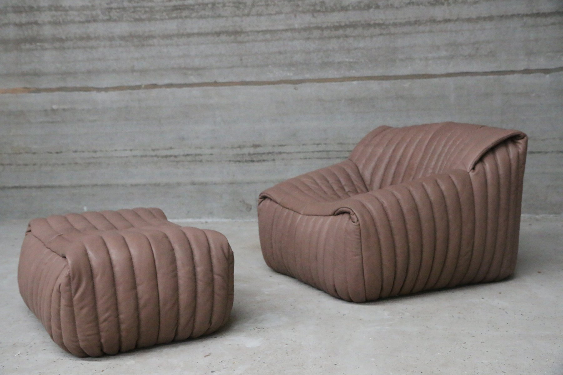 Ottoman Cinna Vintage Armchair And Ottoman By Annie Hieronimus For Cinna