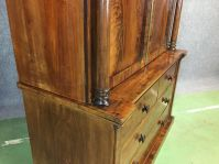 Victorian Linen Cabinet in Mahogany for sale at Pamono
