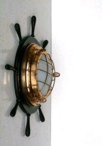 Helm Nautical Italian Wall Lamp, 1960s for sale at Pamono