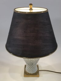 Italian Ceramic and Brass Table Lamp, 1970s for sale at Pamono