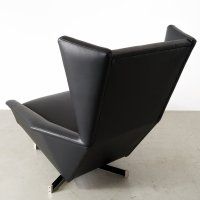 Vintage Swivel Armchair in Leather for sale at Pamono