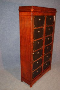 Antique French Mahogany Veneer Storage Cabinet for sale at ...