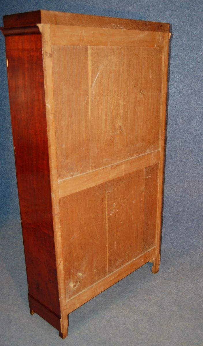 Antique French Mahogany Veneer Storage Cabinet for sale at