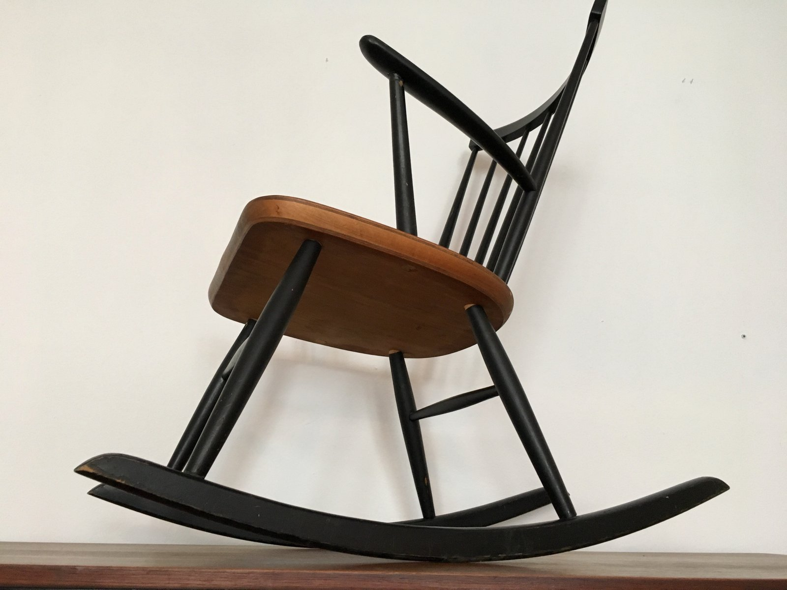 Swedish Rocking Chair Scandinavian Rocking Chair By Roland Rainer For 2k 1960s