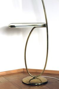 Vintage Brass Floor Lamp with Integrated Table by Rupert ...