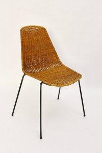 Mid-Century Modern Wicker Chair by Gian Franco Legler ...