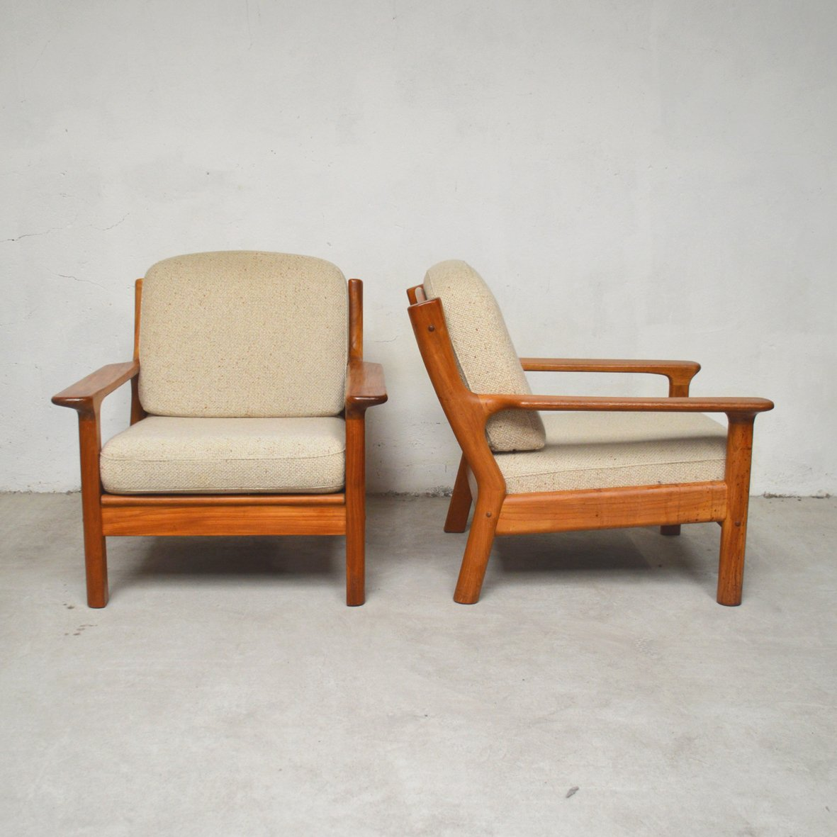 Vintage Möbel Oranienstraße Vintage Armchairs By S Burchardt Nielsen For Möbel Bb Fabrik 1970s Set Of 2