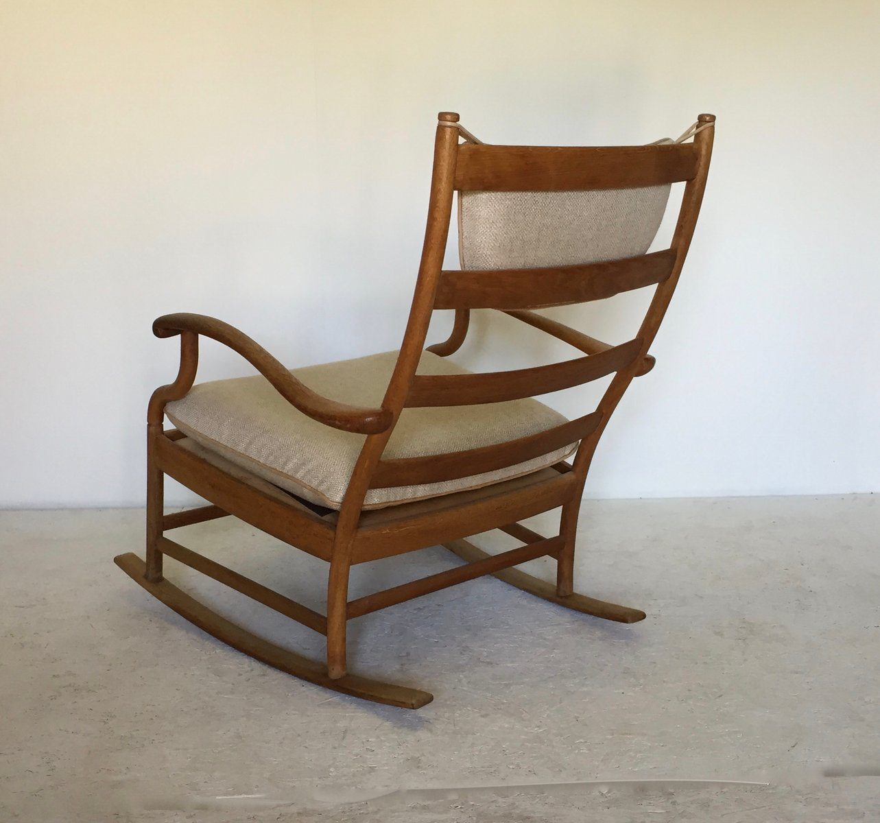 Swedish Rocking Chair Scandinavian Oak Rocking Chair 1950s For Sale At Pamono