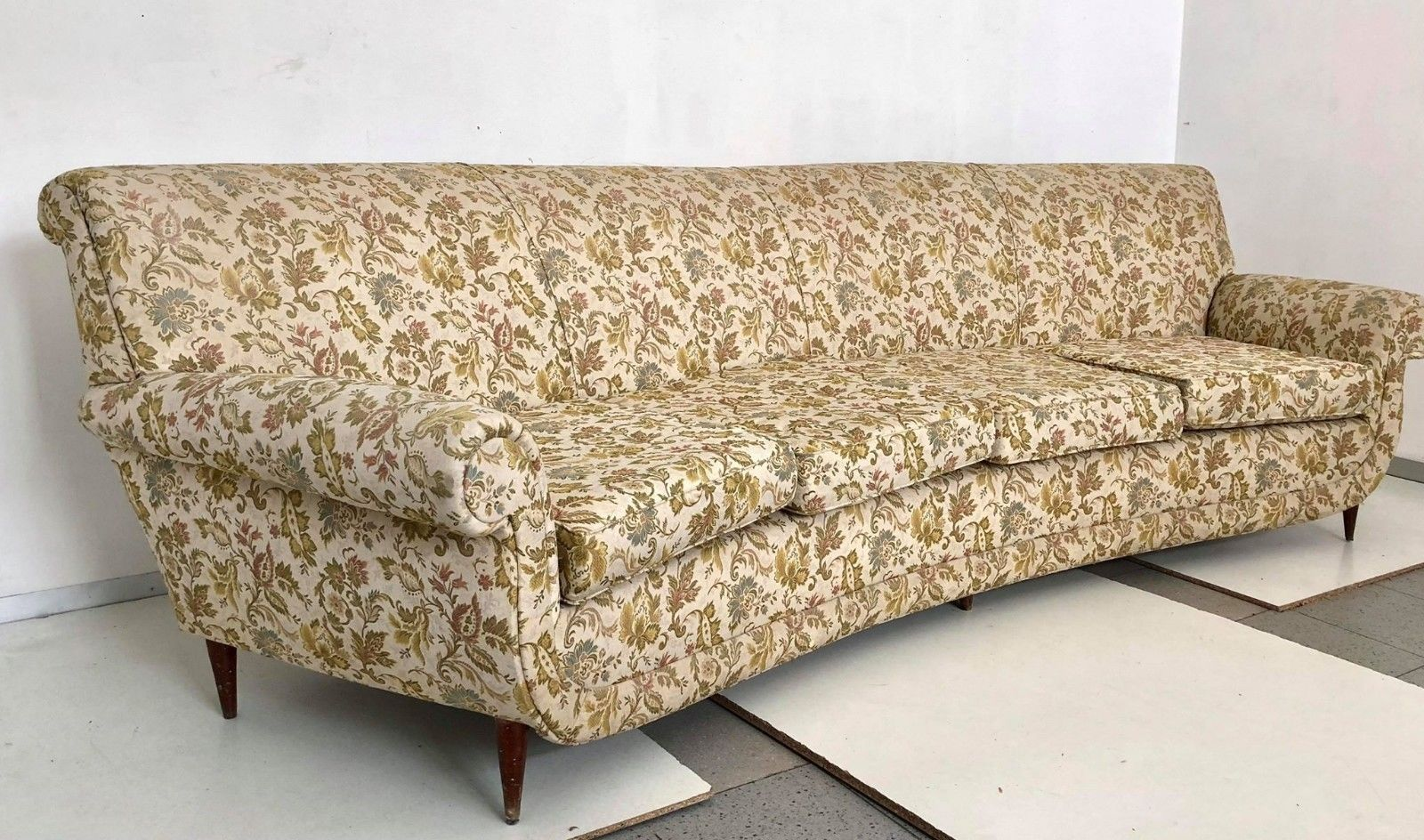 4 Seater Sofa Australia 4 Seater Curved Sofa 1950s For Sale At Pamono
