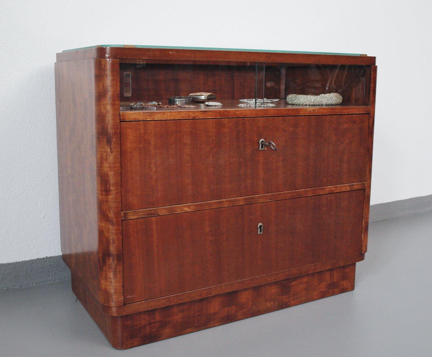deutsche art deco walnuss kommode 1935 bei pamono kaufen