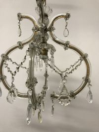 Antique Crystal Pendant Lamp for sale at Pamono