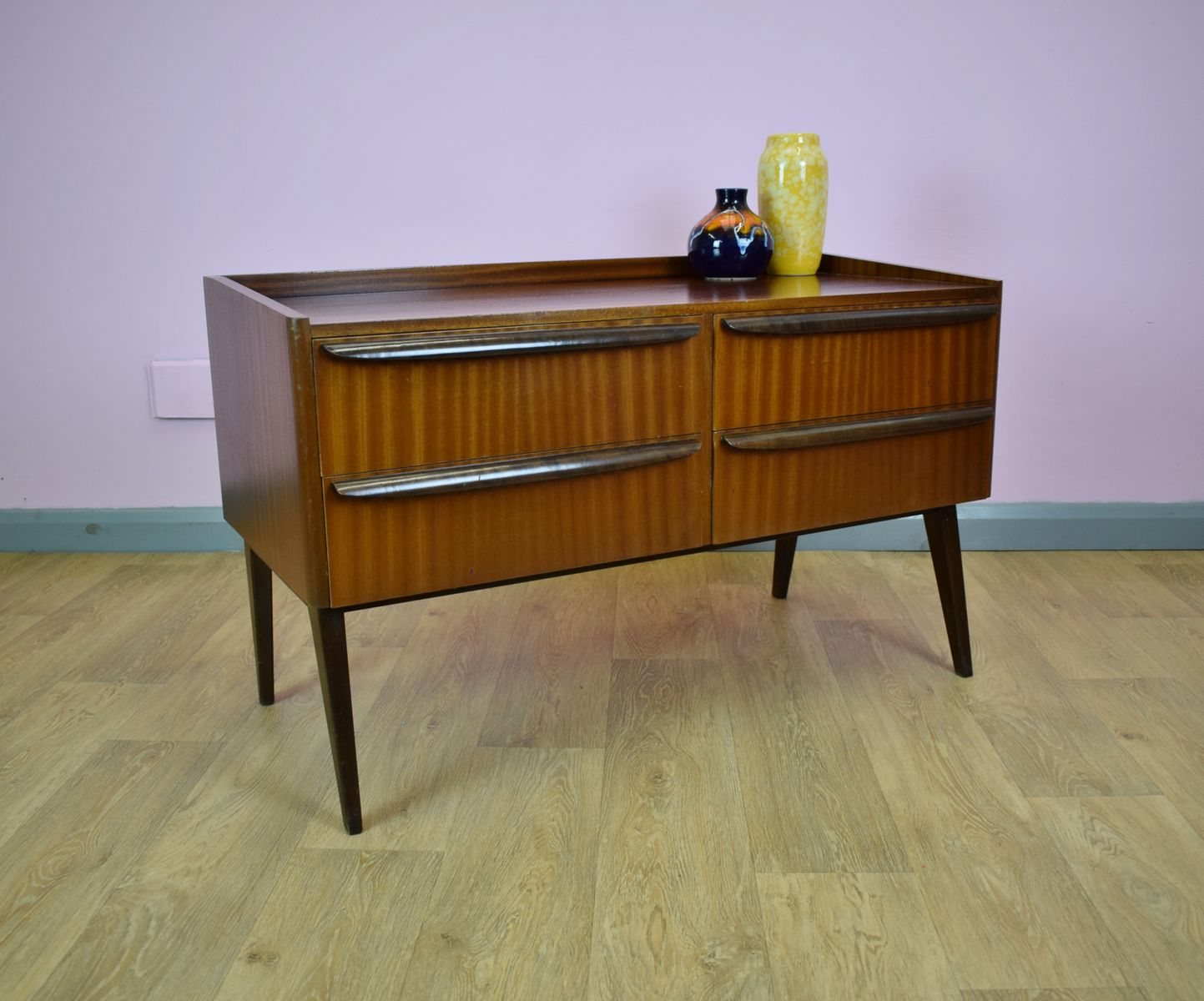 Vintage Sideboard Danish Vintage Danish Teak Low Sideboard For Sale At Pamono