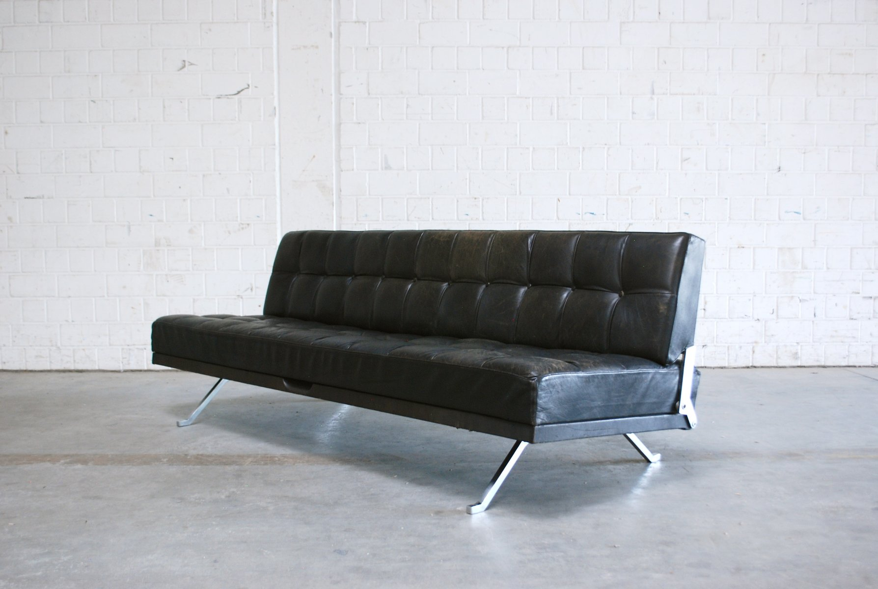 Schlafsofa Wittmann Constanze Leather Sofa Or Daybed By Johannes Spalt For Wittmann 1950s