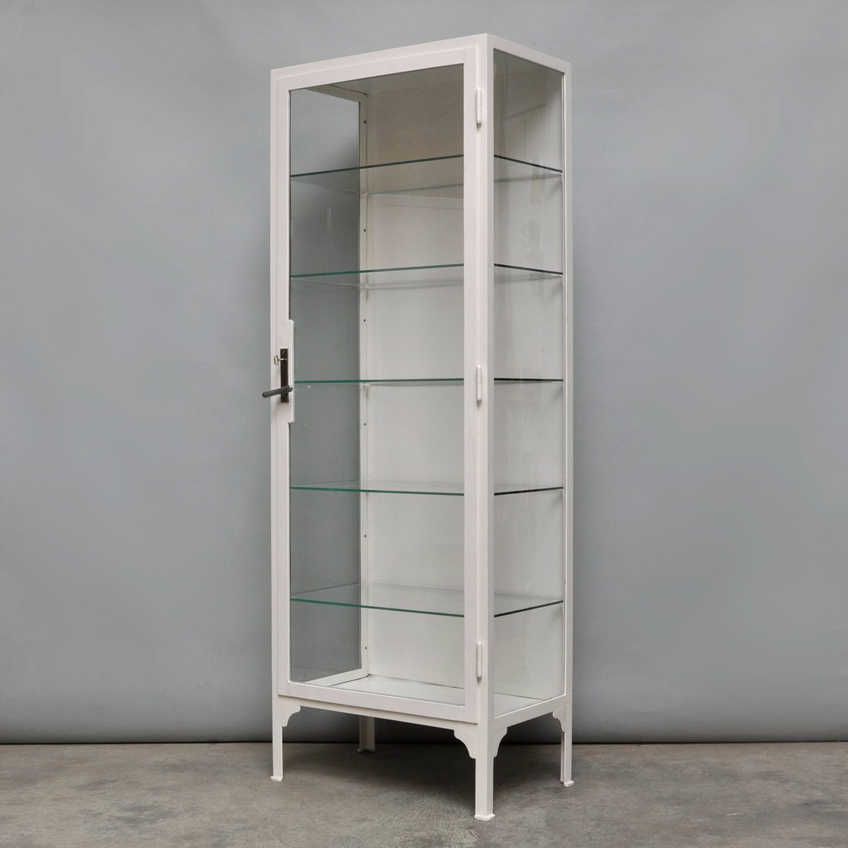 Steel Cabinet For Sale Industrial Steel And Glass Display Cabinet 1940s For Sale