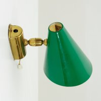 Aluminum & Brass Wall Lamp, 1950s for sale at Pamono
