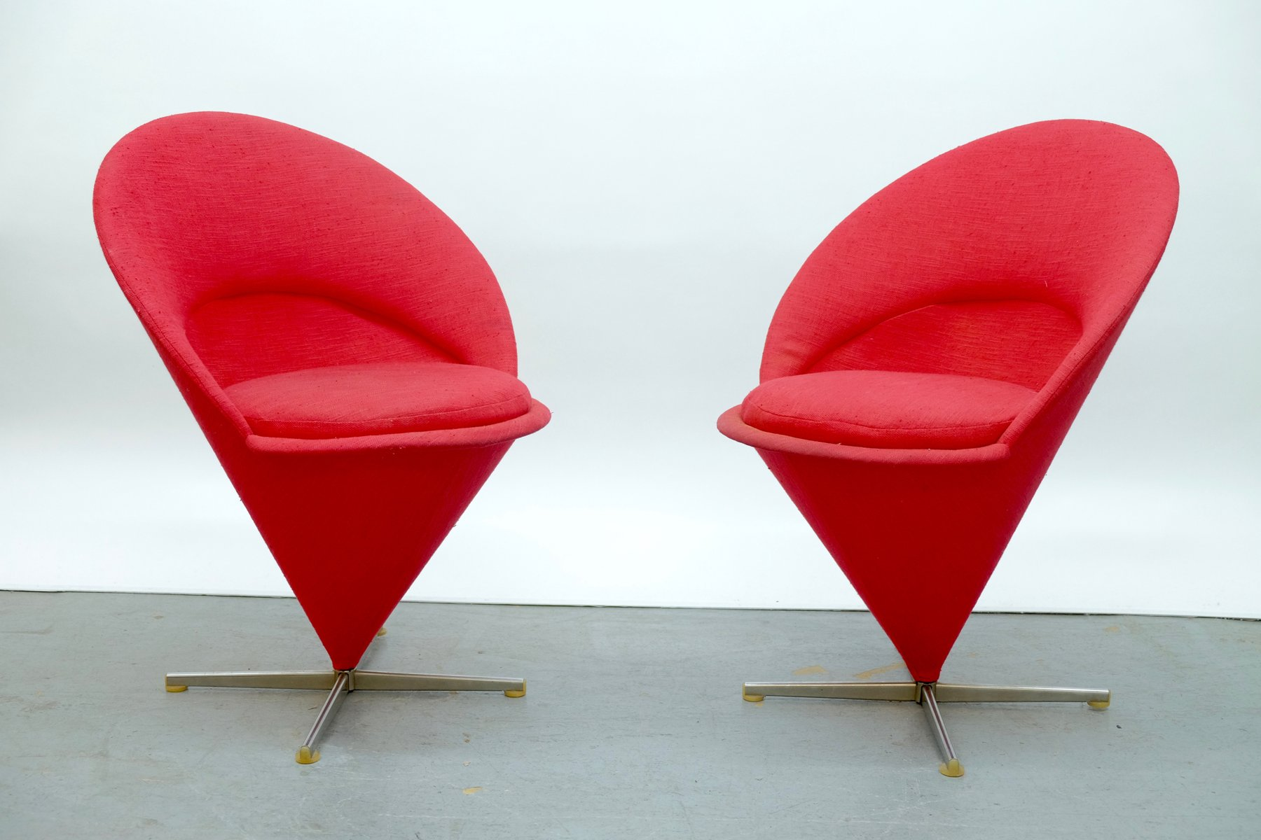 Cone K1 Chairs By Verner Panton For Plus Linje 1958 Set Of 2 For Sale At Pamono